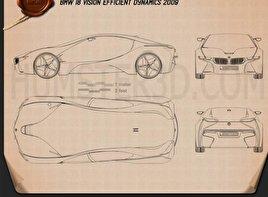 BMW i8 concept 2009 car clipart