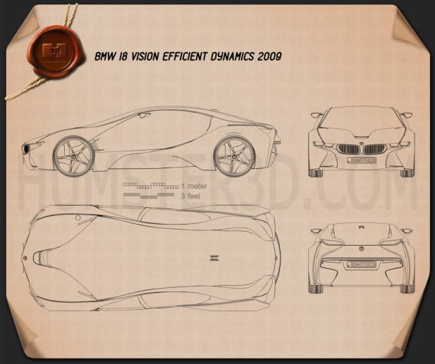 BMW i8 concept 2009 Clipart Image