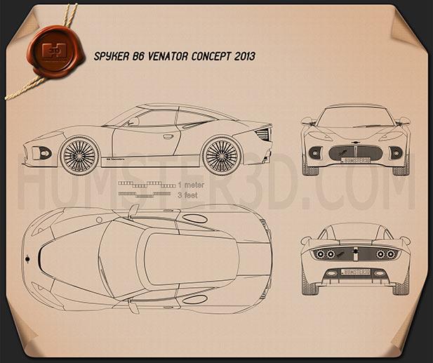 Spyker B6 Venator 2013 Clipart Image