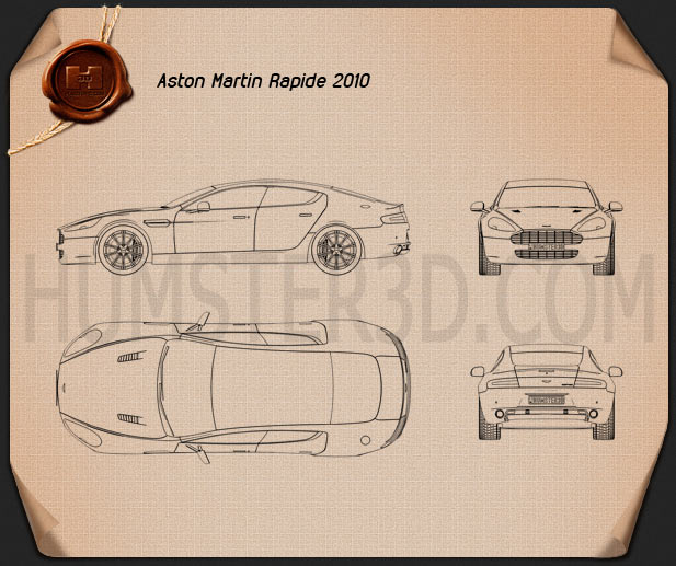 Aston Martin Rapide 2010 Clipart