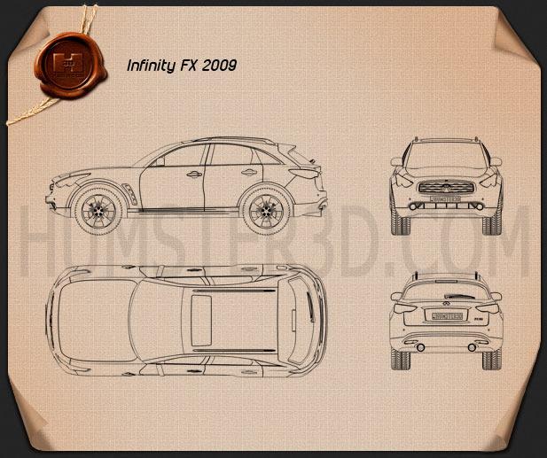 Infiniti FX (S50) 2009 car clipart