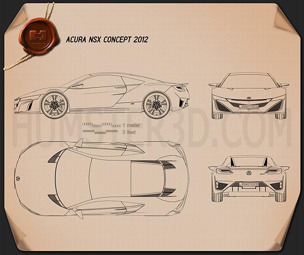 Acura NSX 2012 car clipart
