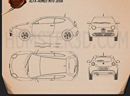 Alfa Romeo MiTo 2009 car clipart