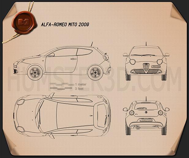 Alfa Romeo MiTo 2009 Clipart Image