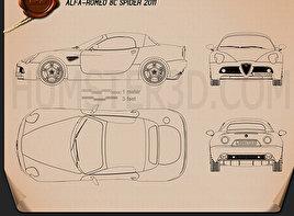Alfa Romeo 8c Spider 2011 Clipart