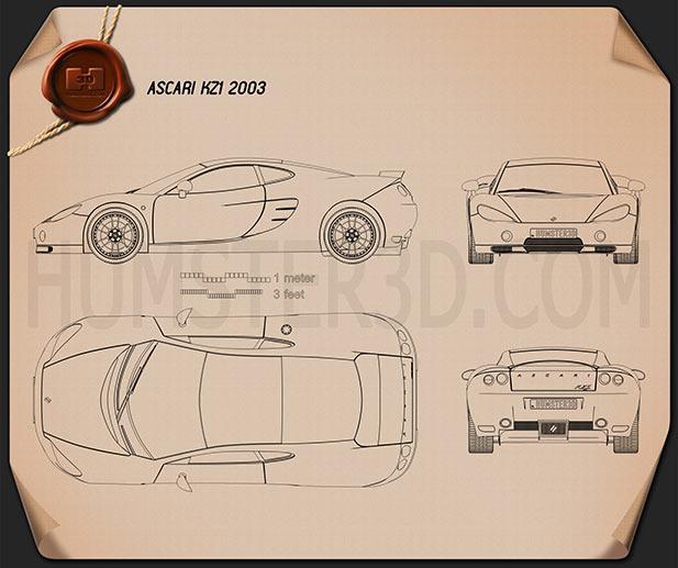 Ascari KZ1 2003 car clipart