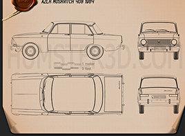 AZLK Moskvitch 408 1964 Clipart