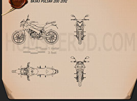 Bajaj Pulsar 200 2012 Motorcycle clipart