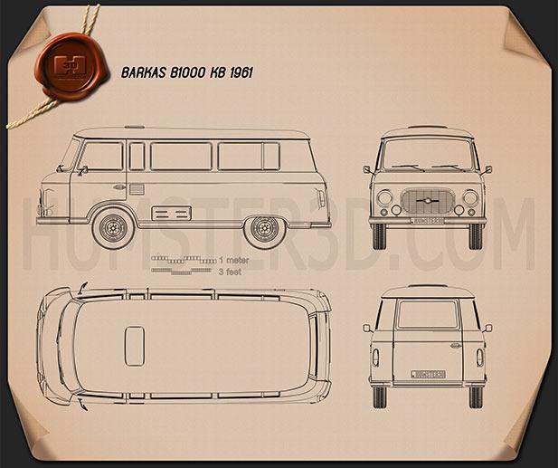 Barkas B1000 KB 1961 Clipart Image