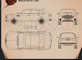 Bentley EXP 9 F 2012 Clipart