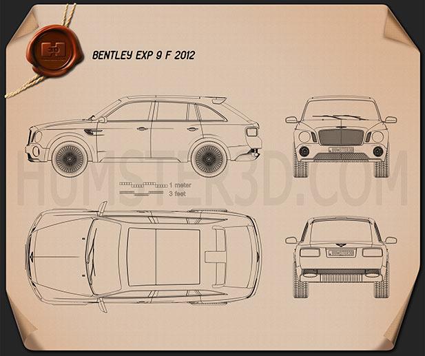 Bentley EXP 9 F 2012 Clipart Image