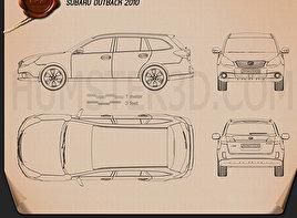 Subaru Outback 2010 Clipart