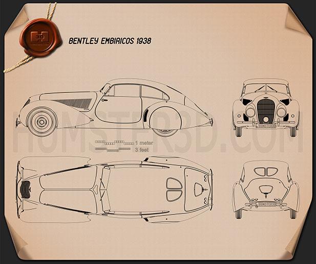 Bentley Embiricos 1938 car clipart