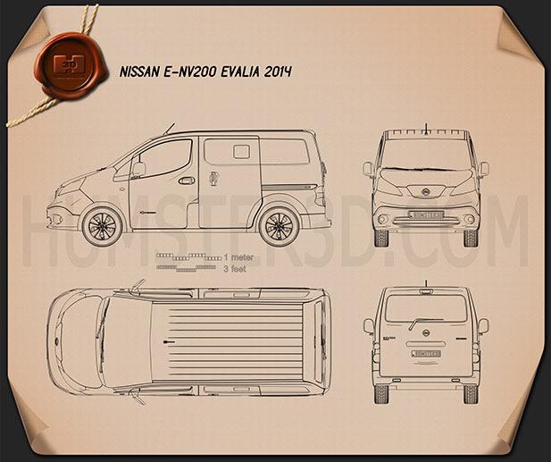 Nissan e-NV200 Evalia 2014 clipart