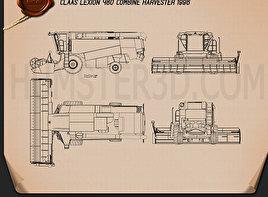 Claas Lexion 480 Combine Harvester 1996