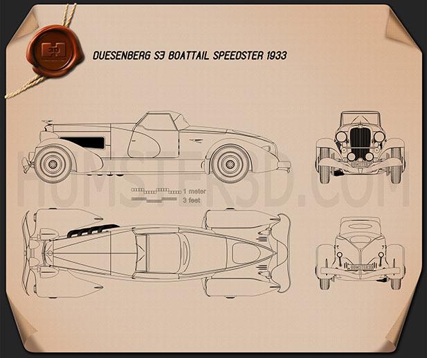 Duesenberg SJ Boattail Speedster 1933