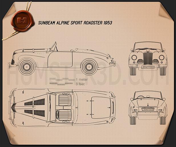 Sunbeam Alpine 1953