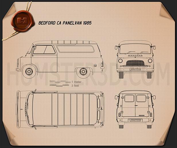 Bedford CA Panel Van 1965 Clipart Image