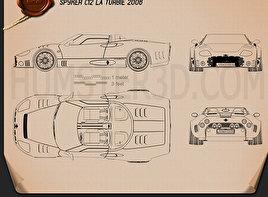 Spyker C12 La Turbie 2006 car clipart