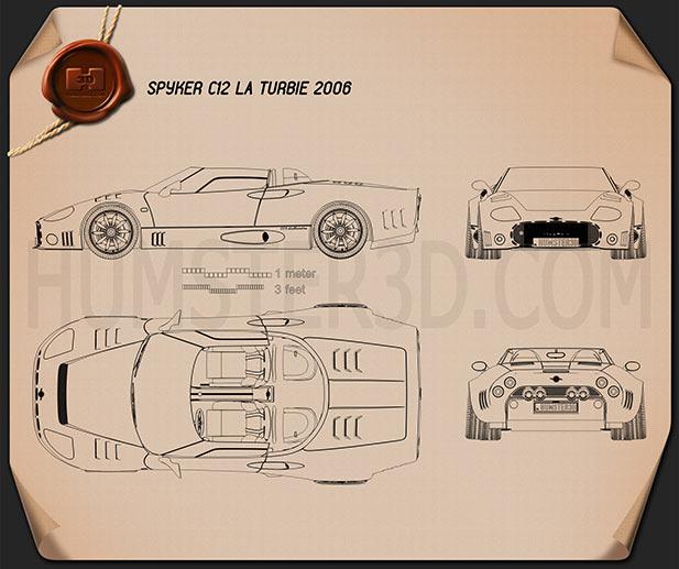 Spyker C12 La Turbie 2006 Clipart Image