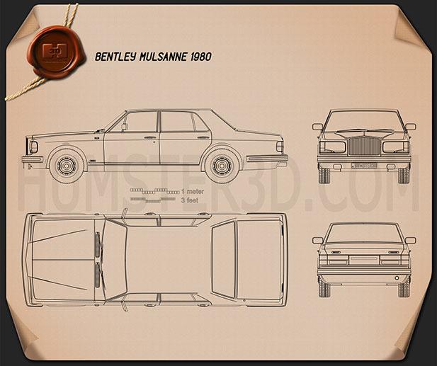 Bentley Mulsanne 1980 Clipart Image