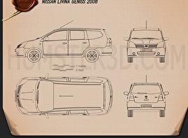 Nissan Livina Geniss 2006 clipart