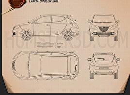 Lancia Ypsilon 2011 car clipart