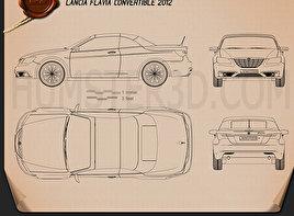 Lancia Flavia convertible 2012 Clipart
