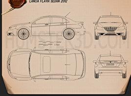 Lancia Flavia sedan 2012 car clipart