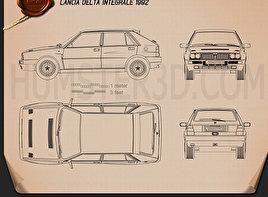 Lancia Delta Integrale 1992 car clipart