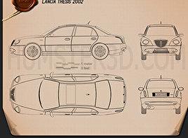 Lancia Thesis 2002 Clipart