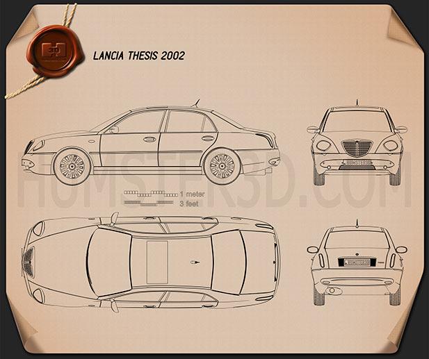 Lancia Thesis 2002 car clipart
