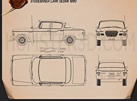 Studebaker Lark sedan 1960 car clipart