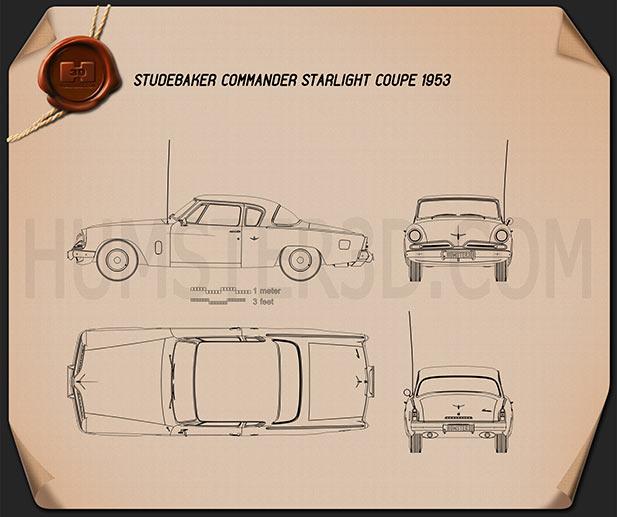 Studebaker Champion (Commander) Starlight Coupe 1953