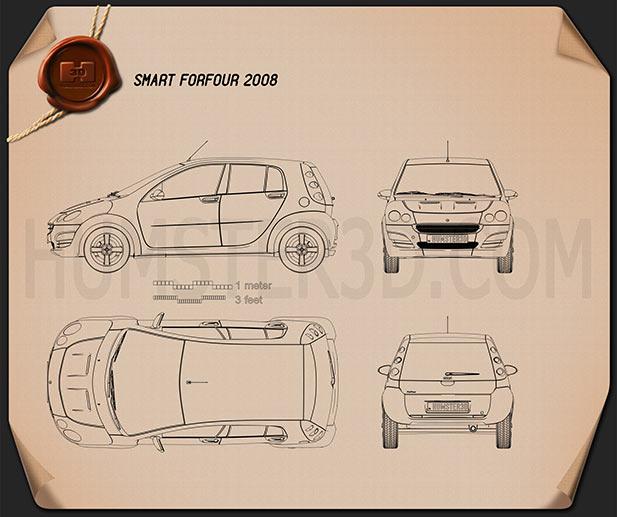 Smart Forfour 2006 car clipart