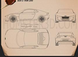 Audi e-tron car clipart