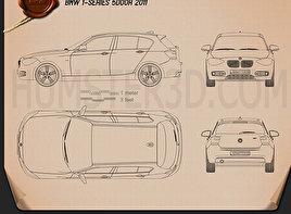 BMW 1 Series (F20) 5-door 2011 car clipart