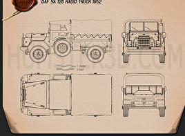 DAF YA-126 Radio Truck 1952 Clipart
