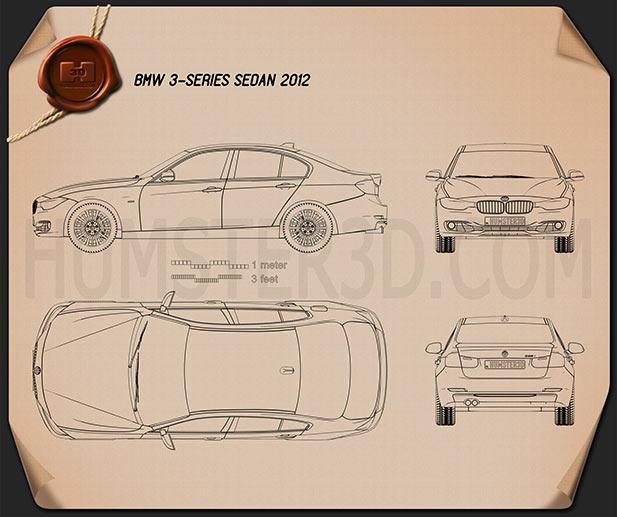 BMW 3 Series Sedan 2012 car clipart