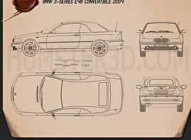 BMW 3 Series Convertible (E46) 2004 car clipart