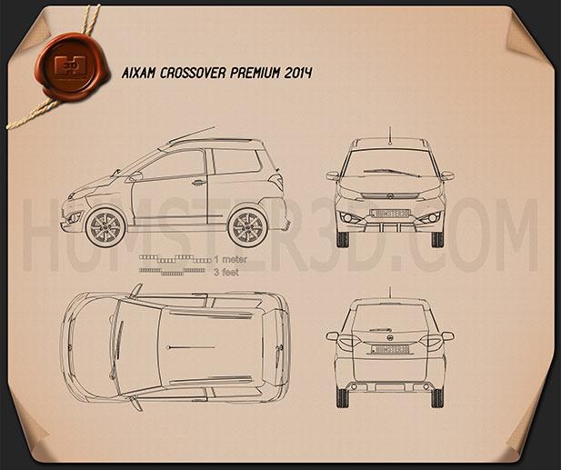 Aixam Crossover Premium 2014 car clipart