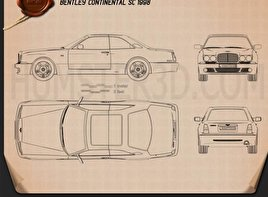 Bentley Continental SC 1998 Clipart