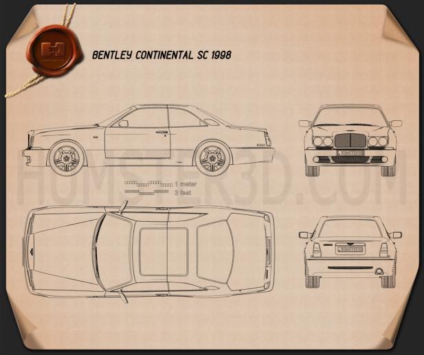 Bentley Continental SC 1998 car clipart