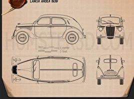 Lancia Ardea 1939 car clipart