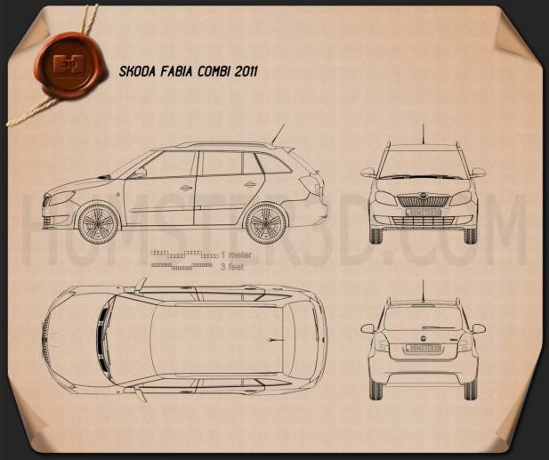 Skoda Fabia Combi 2011 car clipart