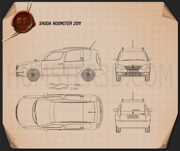 Skoda Roomster 2011 clipart