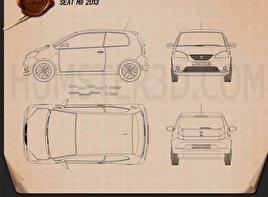 Seat Mii 3-türig 2013 car clipart
