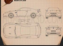 Nissan GT-R 2008 car clipart