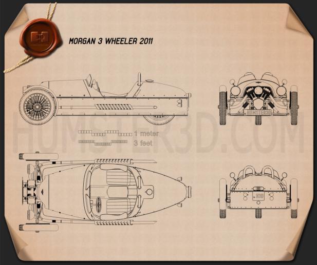 Morgan 3 Wheeler 2011 car clipart