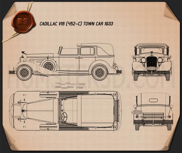Cadillac V-16 town car 1933 car clipart